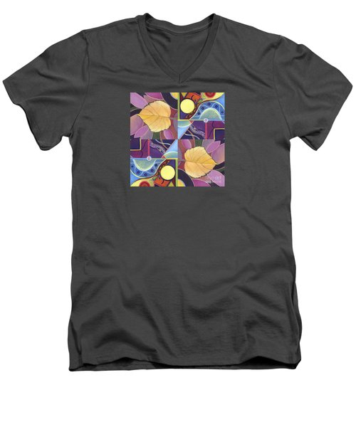 Time Goes By - The Joy Of Design Series Arrangement Men's V-Neck T-Shirt by Helena Tiainen