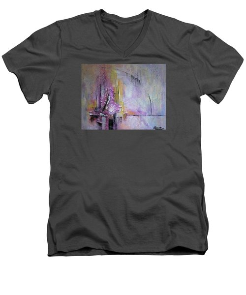 Time Lapse Men's V-Neck T-Shirt by Roberta Rotunda