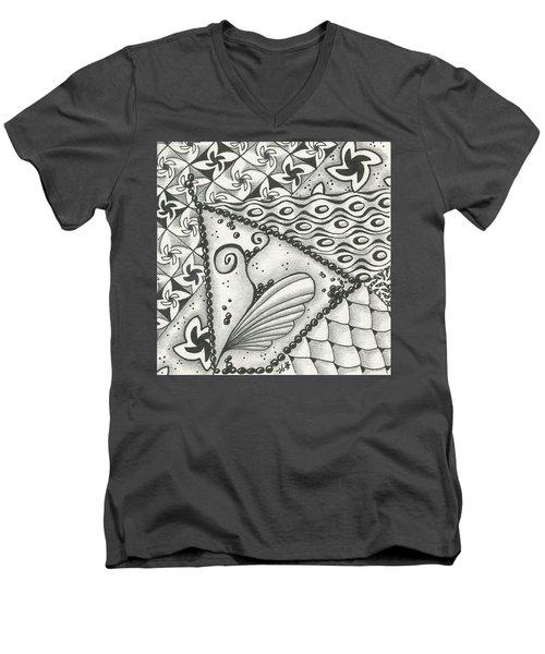 Time Marches On Men's V-Neck T-Shirt