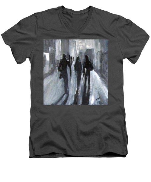 Time Of Long Shadows Men's V-Neck T-Shirt by Barbara O'Toole