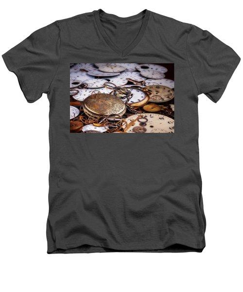 Men's V-Neck T-Shirt featuring the photograph Time Pieces by Tom Mc Nemar