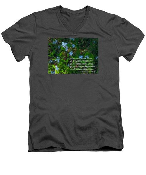 Time Remembered Is Grief Forgotten Men's V-Neck T-Shirt by Deborah Dendler
