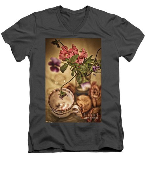 Time Stands Still Men's V-Neck T-Shirt by Kate Purdy