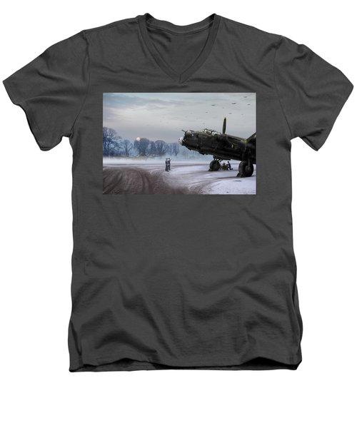 Time To Go - Lancasters On Dispersal Men's V-Neck T-Shirt