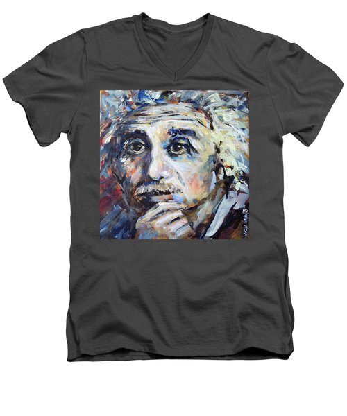 Time To Think Men's V-Neck T-Shirt by Mary Schiros