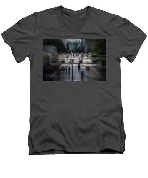 Time Traveller Men's V-Neck T-Shirt by Martin Newman