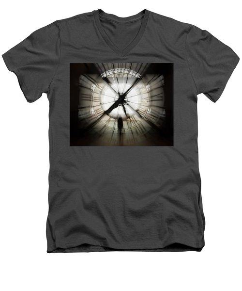Time Waits For None Men's V-Neck T-Shirt