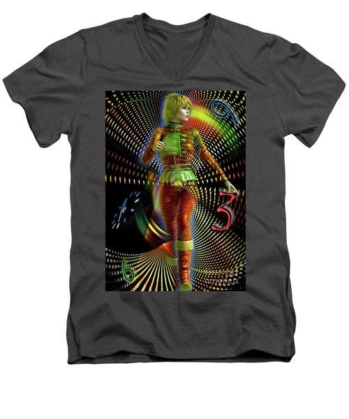 Time Zone Men's V-Neck T-Shirt by Shadowlea Is