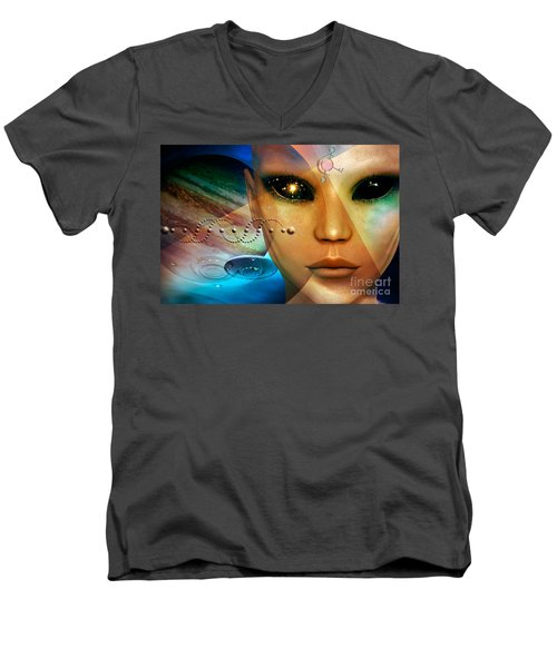 Timeless Traveller Men's V-Neck T-Shirt by Shadowlea Is