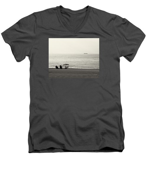 Times Gone By Men's V-Neck T-Shirt by Pedro L Gili