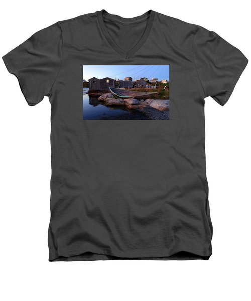 Peggy's Cove, Nova Scotia Men's V-Neck T-Shirt by Heather Vopni