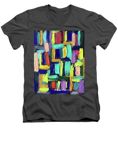 Times Square Nighttime Men's V-Neck T-Shirt