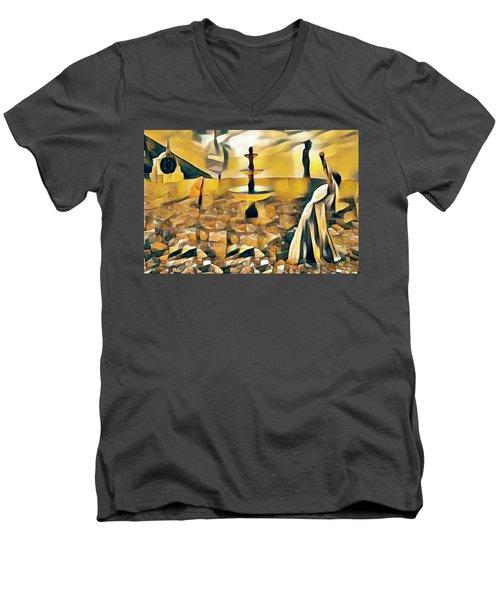 Time's Up Men's V-Neck T-Shirt