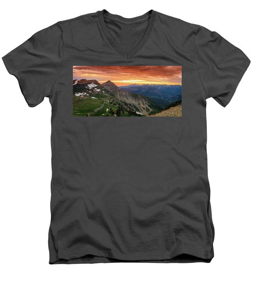 Timp Sunset Panorama Men's V-Neck T-Shirt