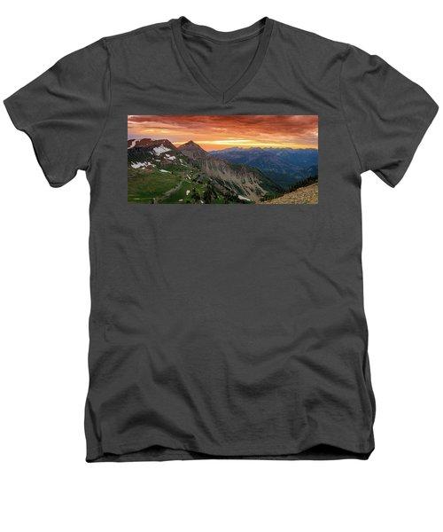 Timp Sunset Panorama Men's V-Neck T-Shirt