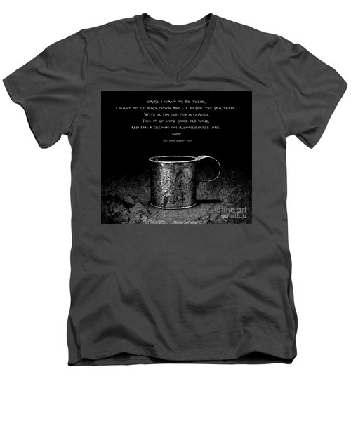 Tin Cup Chalice Lyrics Men's V-Neck T-Shirt