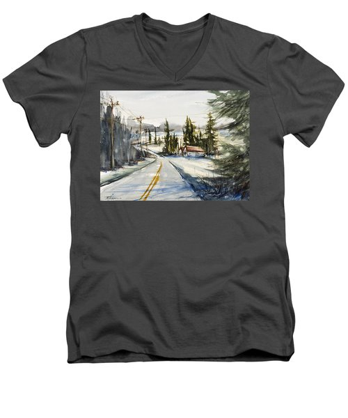 Tin Roof Rusted Men's V-Neck T-Shirt by Judith Levins