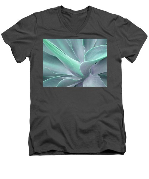 Tinted Agave Attenuata Abstract Men's V-Neck T-Shirt