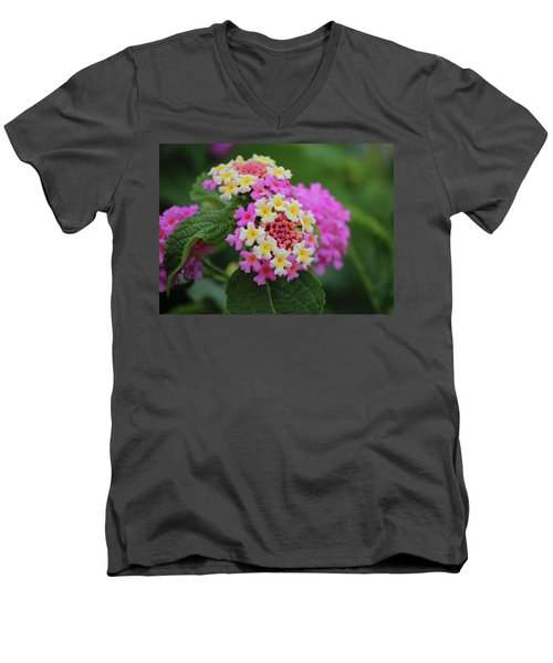 Tiny Bouquets Men's V-Neck T-Shirt by Rowana Ray