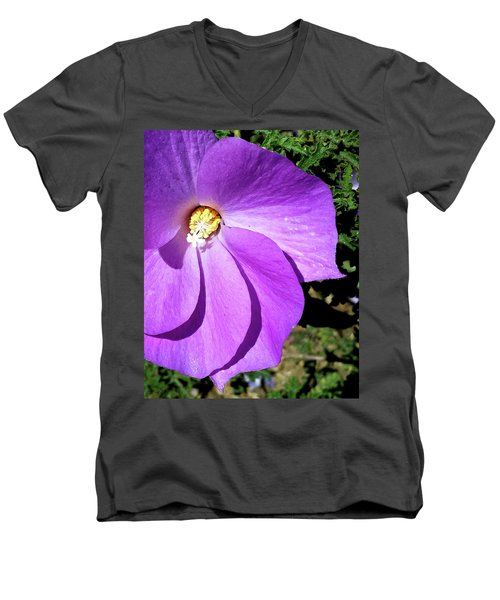 Tiny Purple Flower Men's V-Neck T-Shirt
