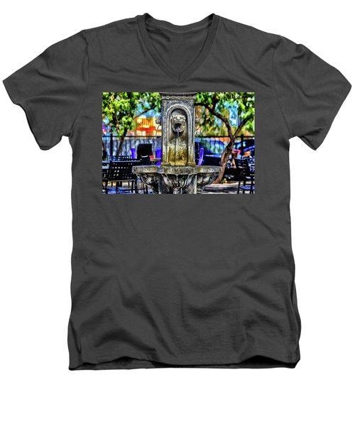 Men's V-Neck T-Shirt featuring the photograph Tipsy by Michael Rogers