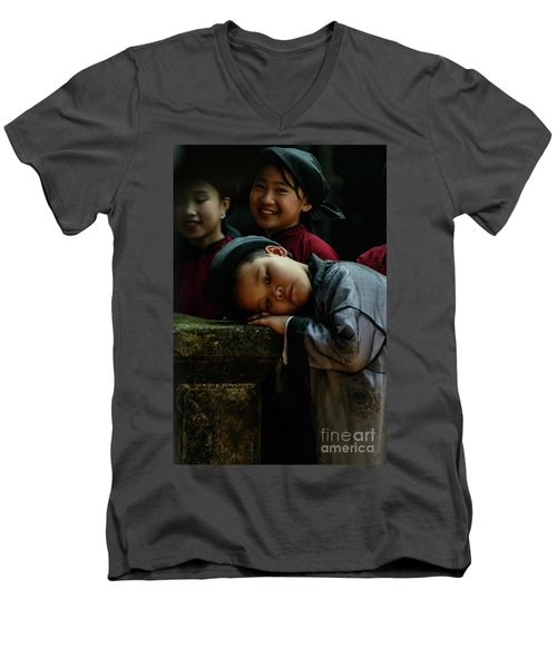 Tired Actor Men's V-Neck T-Shirt by Werner Padarin