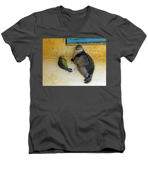 Tired Of Tourists. No Flash Photography Please.  Men's V-Neck T-Shirt