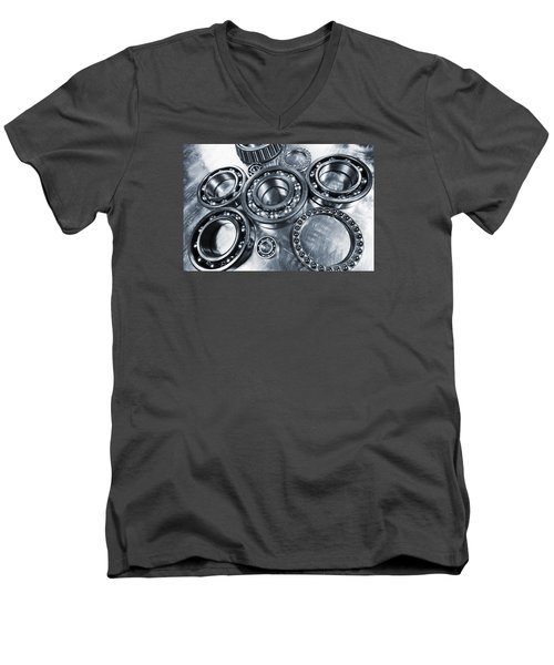 Titanium And Steel Ball-bearings Men's V-Neck T-Shirt