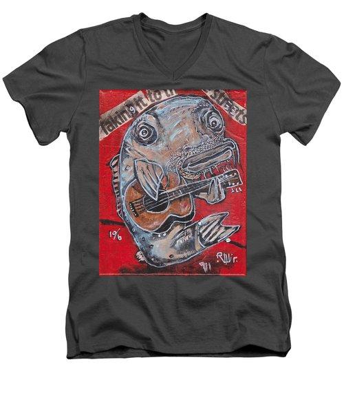 Blues Cat Men's V-Neck T-Shirt