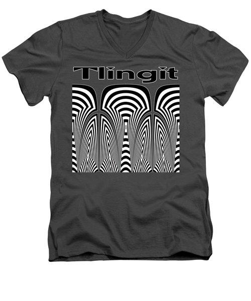 Tlingit Tribute Men's V-Neck T-Shirt by Methune Hively