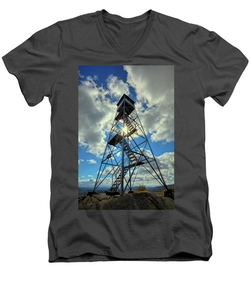 To Climb Or Not To Climb Men's V-Neck T-Shirt by David Patterson