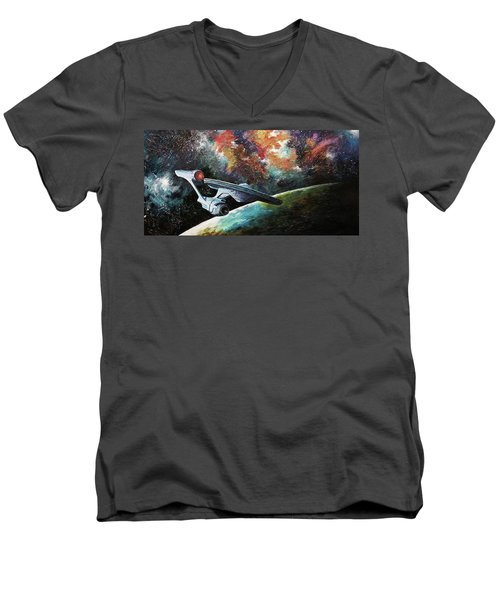 To Go Beyond  Men's V-Neck T-Shirt