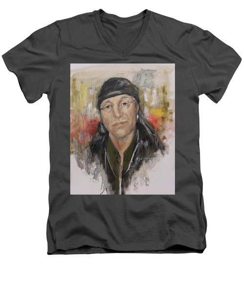 To Honor John Trudell Men's V-Neck T-Shirt