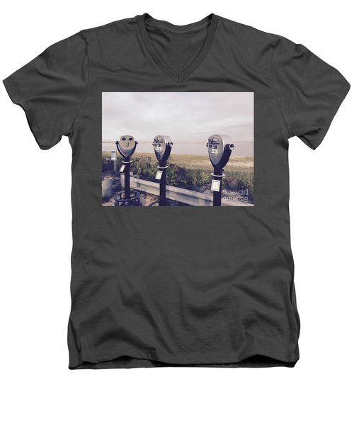 To See The Sea Men's V-Neck T-Shirt by Beth Saffer