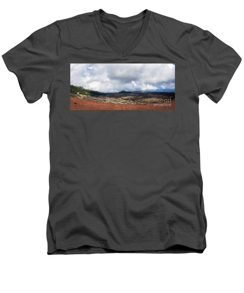 To The East Side Men's V-Neck T-Shirt by Giuseppe Torre