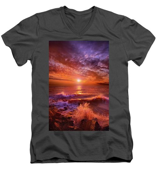 Men's V-Neck T-Shirt featuring the photograph To Thine Own Self Be True by Phil Koch