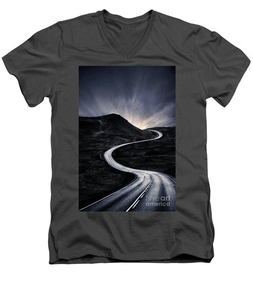 To Where The Darkness Ends Men's V-Neck T-Shirt