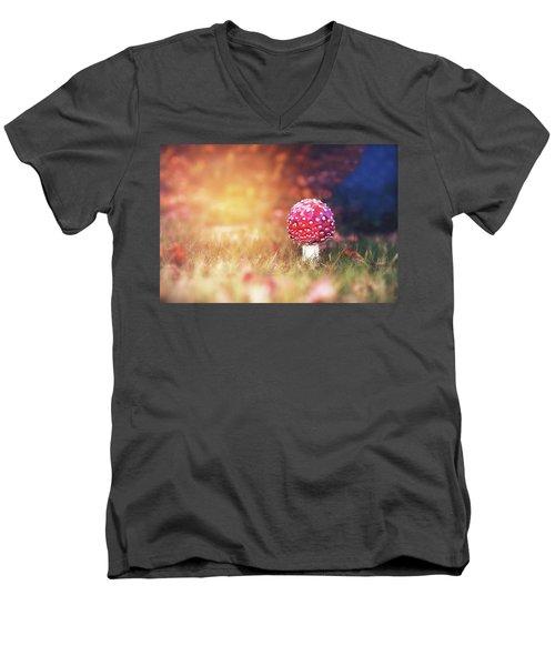 Toadstool Story Men's V-Neck T-Shirt