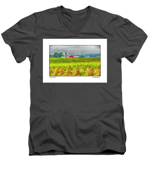 Tobacco Farm Men's V-Neck T-Shirt by R Thomas Berner