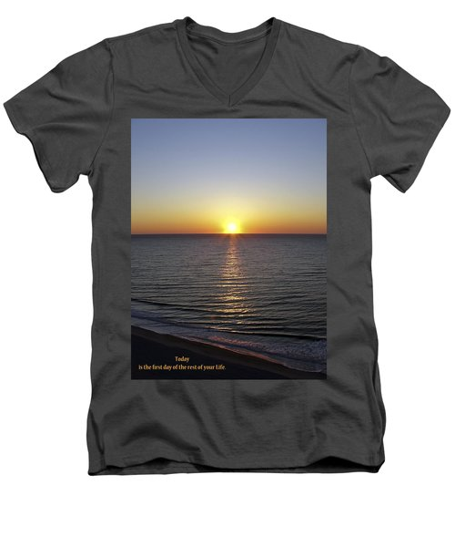 Today Men's V-Neck T-Shirt by Rhonda McDougall