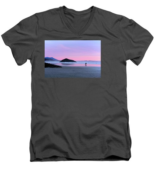Tofino Sunset Men's V-Neck T-Shirt by Keith Boone