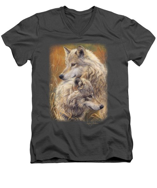 Together Men's V-Neck T-Shirt by Lucie Bilodeau