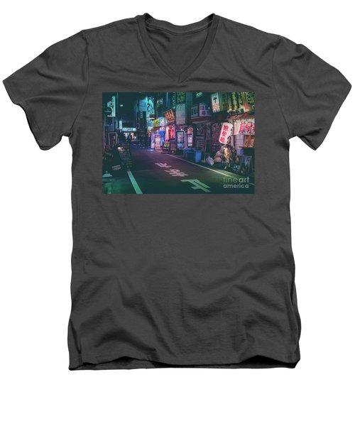 Tokyo Side Streets, Japan Men's V-Neck T-Shirt