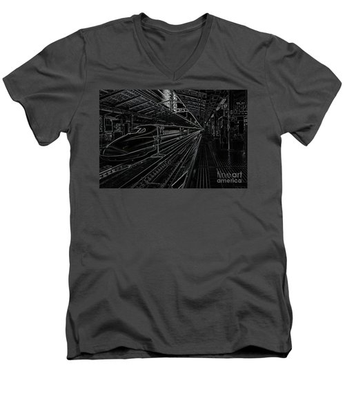 Tokyo To Kyoto, Bullet Train, Japan Negative Men's V-Neck T-Shirt
