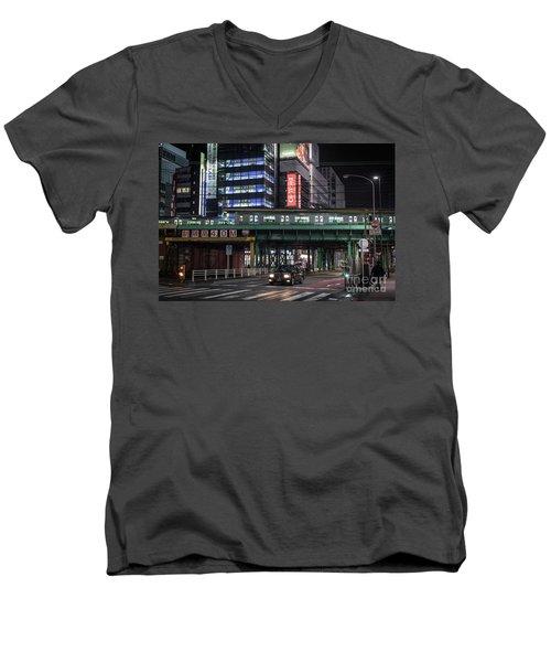 Tokyo Transportation, Japan Men's V-Neck T-Shirt