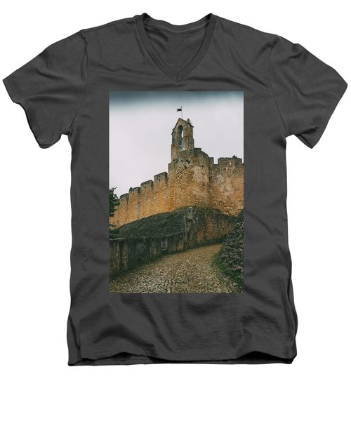 Tomar Castle, Portugal Men's V-Neck T-Shirt