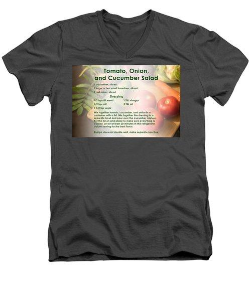Tomato Onion Cucumber Salad Recipe Men's V-Neck T-Shirt