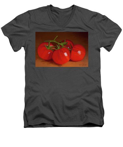 Tomatoes 01 Men's V-Neck T-Shirt by Wally Hampton
