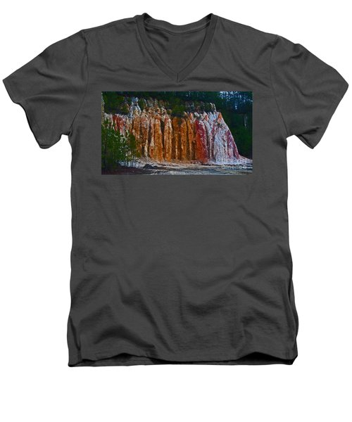 Tombs Land Formation Men's V-Neck T-Shirt