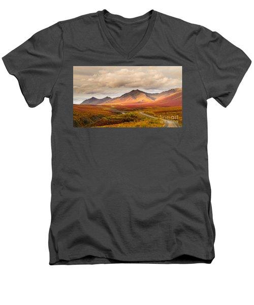 Tombstone Territorial Park Yukon Men's V-Neck T-Shirt by Rod Jellison